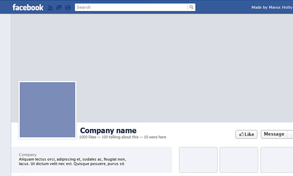 Freebie PSD Facebook template profile timeline