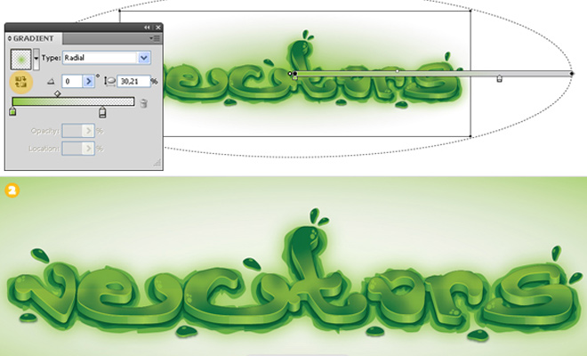 green viscous text effect tutorial