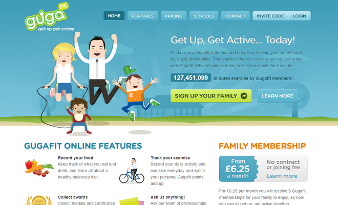 gugafit get up active vector artwork website