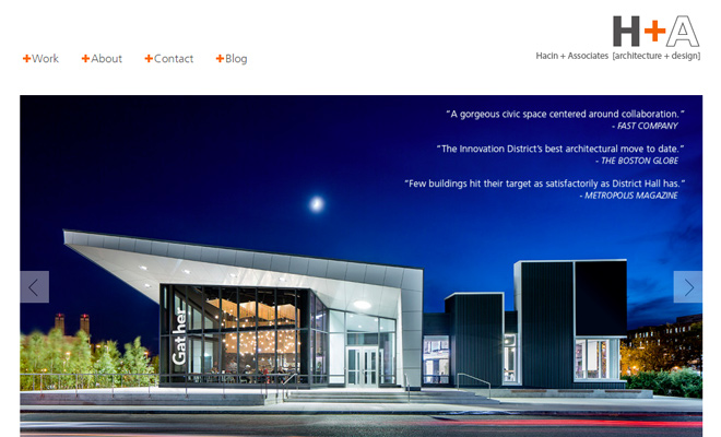 30 inspirational architecture firm website designs for Architectural websites