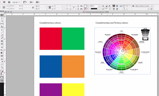 color palette tutorial video basics