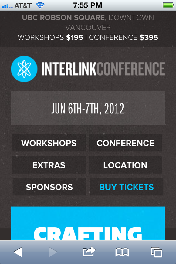 Interlink Conference mobile responsive layout