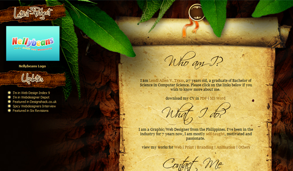 Lendl Allen website design nature