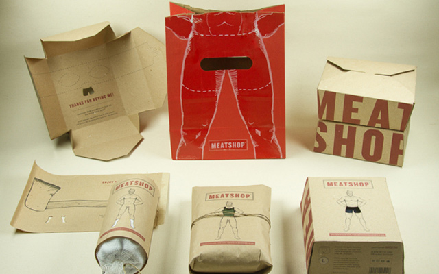 meatshop menswear design packaging branding