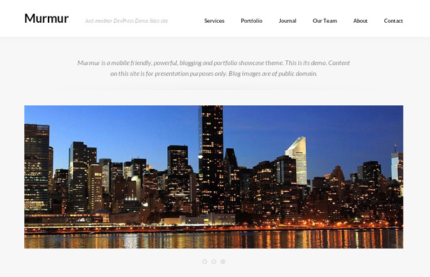 murmur open source free wordpress theme