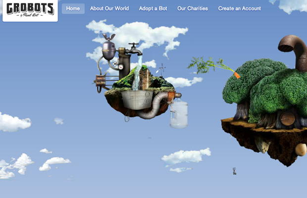 recycled life forms flash website layout