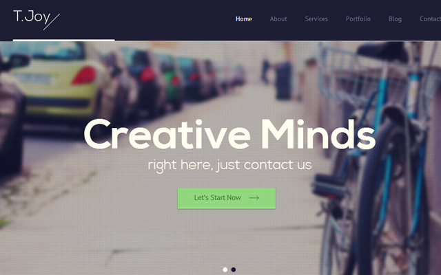 tjoy simple html5 website template creativity