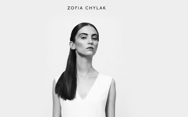 zofia chylak grey portfolio personal website layout
