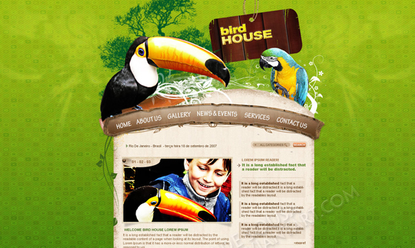 25 Fun & Creative Web Designs From DeviantArt