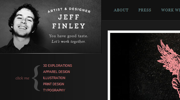 Creative Dark Web Designs
