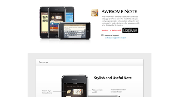 Design Trends: 20 (MORE) Of The Coolest iPhone APP Website Designs