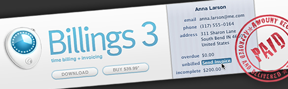 Enter To Win One Of Three Copies Of Billings 3 : Time-Tracking And Invoicing For OS X!