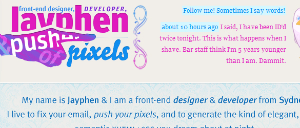 Left Aligned Web Designs