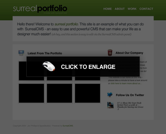 How To Create A Simple Portfolio Site Running On Surreal CMS