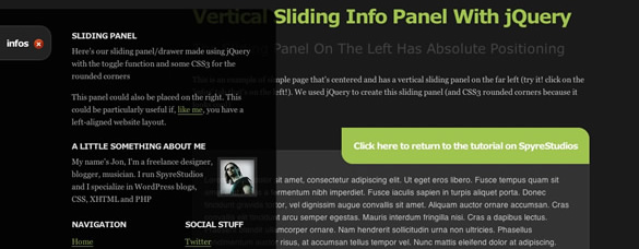 Vertical Sliding Panel With jQuery And CSS3