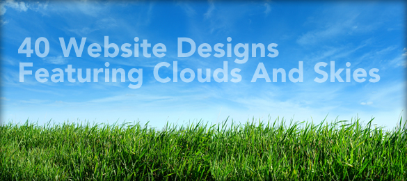 Showcase Of 40 Website Designs Featuring Clouds And Skies