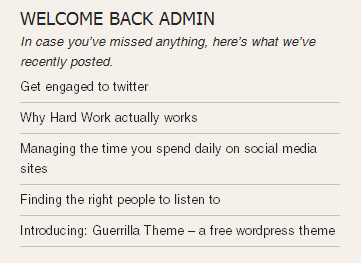 WordPress Tutorial: How To Display A User Welcome Message