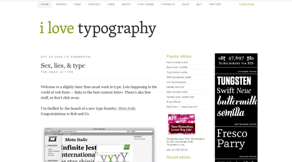 #I Love Typography
