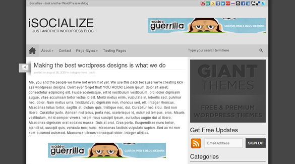 Enter To Win 1 Of 10 Copies Of The iSocialize Theme From GIANT Themes!