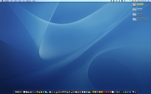 A Simple Desktop - Uncluttered