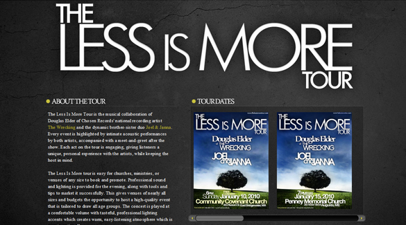The Less is More Tour