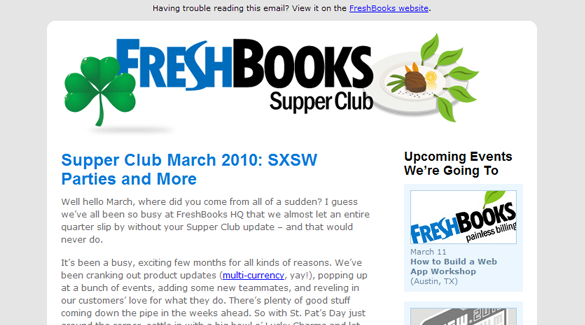 Freshbooks Supper Club