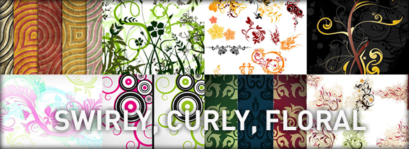 80+ Swirly, Curly & Floral Vector Resources