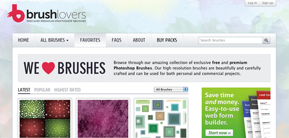BrushLovers - Free and Premium Photoshop Brushes