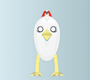 Wingless Bird Vector Character