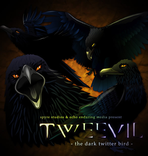 Tweevil Dark Twitter Bird