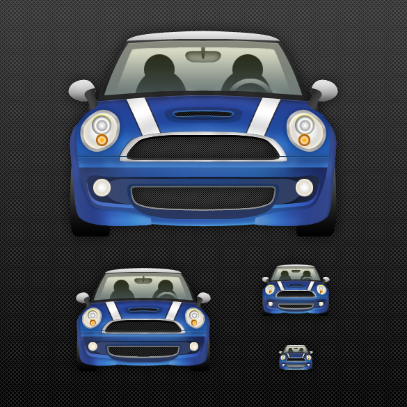Detailed Mini Cooper Large Icon