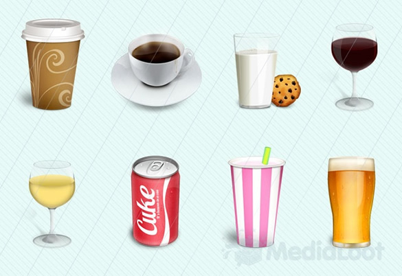 Incredibly Detailed Drinks Icon Pack
