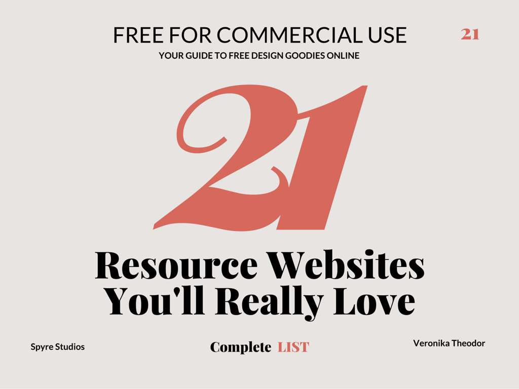 21 Free For Commercial Use Resource Websites You'll Really Love