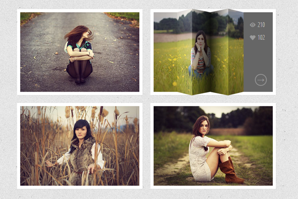 thumbmnail image hover effects jQuery css3