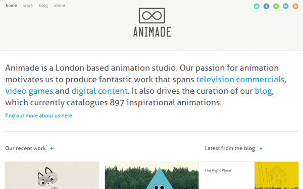 Animade art studio UK Great Britain
