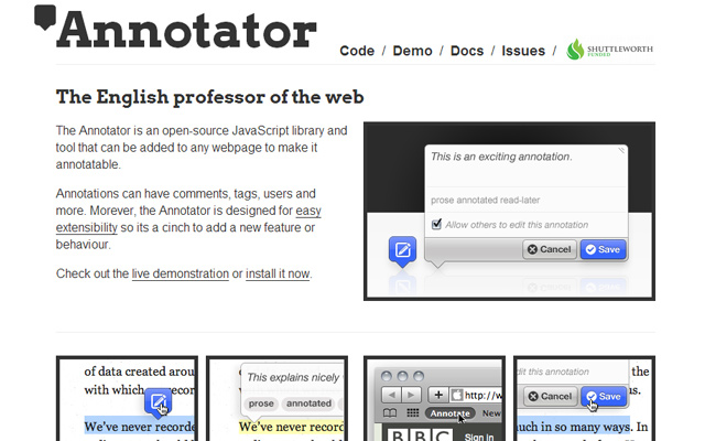 annotator tool popup tooltip javascript library