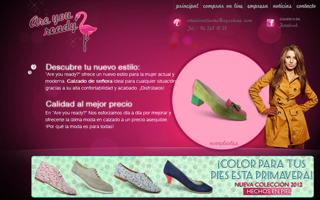 are you ready flamingo pink website layout