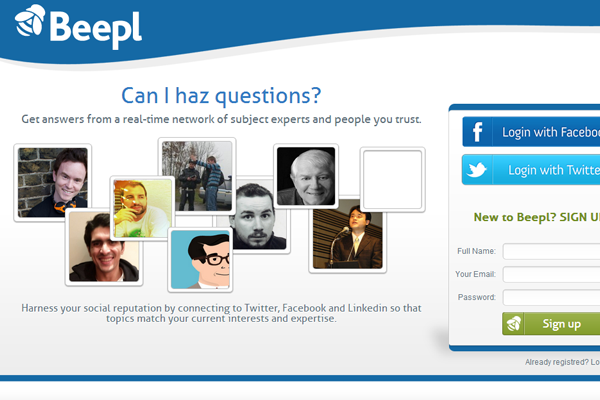 Beepl smarter way to question world social networking