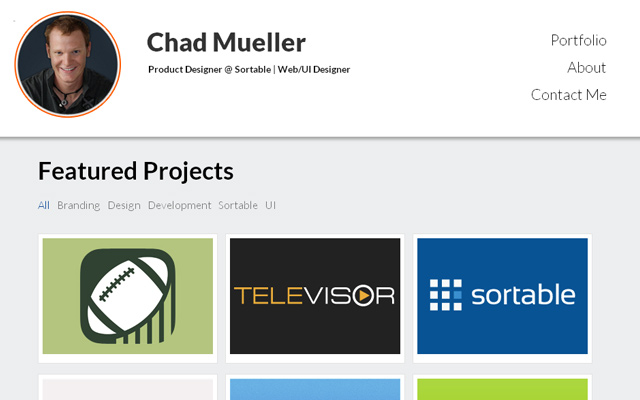 chad mueller product designer portfolio portrait photo
