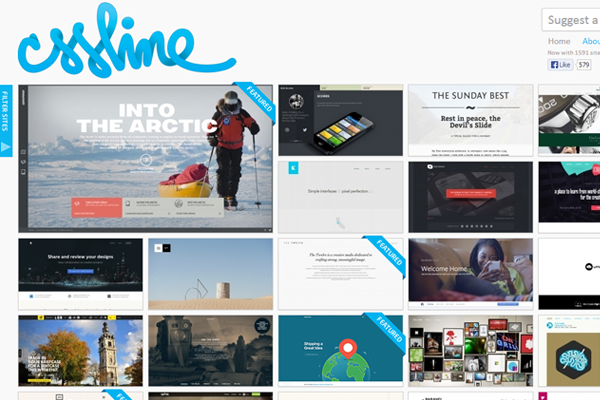 cssline website gallery inspiring layout