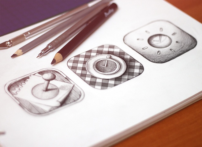 ios iphone app icons sketchbook design
