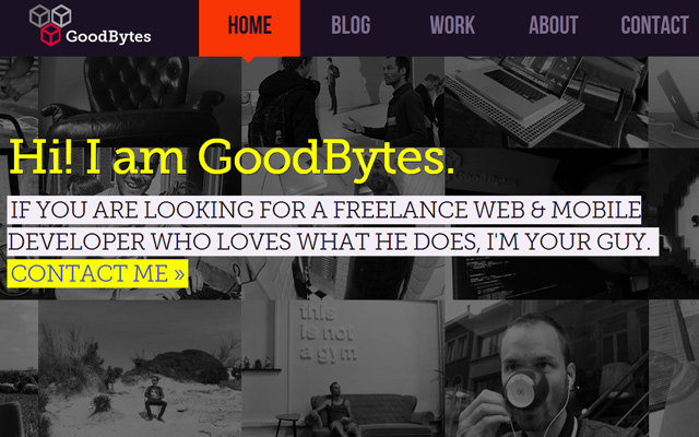 purple website homepage goodbytes inspiration
