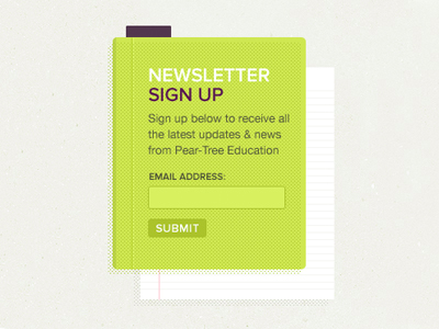 Green White ruled paper website ui signup form