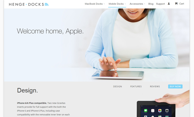 gravitas iphone ipad tech company docks