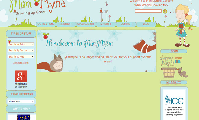 mimimyne pastel colored bright website