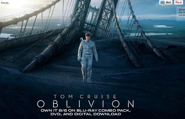 tom cruise movie oblivion website