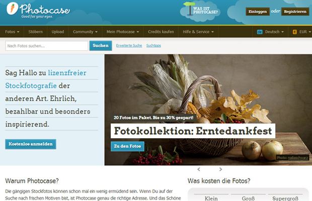 photocase website design german homepage layout inspiration