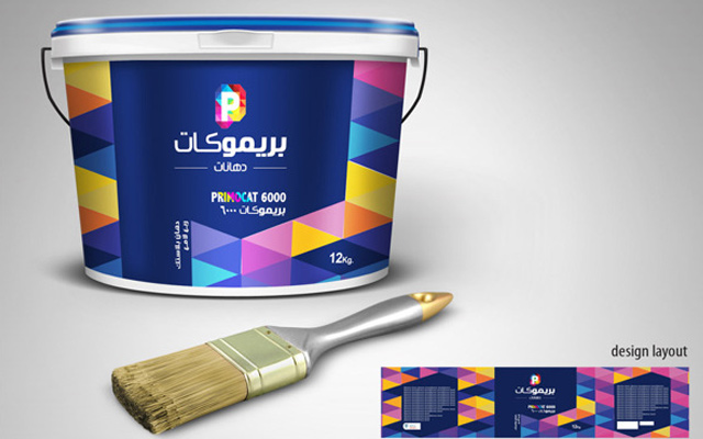 primocat paint can design package