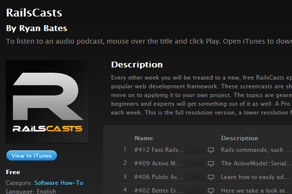 ruby on rails podcast radio shows