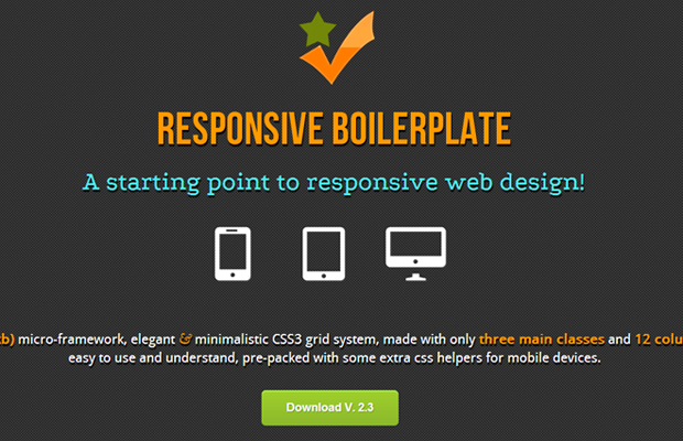 responsive website boilerplate css open source download